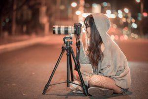 Nuit, Appareil Photo, Photographe, Photo, Image
